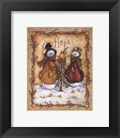 Framed Snow Folk Hope