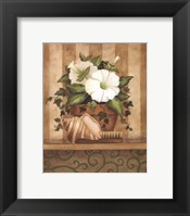 Petunia and Shell Framed Print