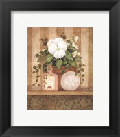 Framed Pansy and Shell