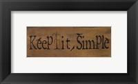 Framed Mini-Keep It Simple