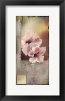 Framed Hibiscus in White I