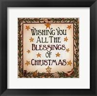 Framed Blessings of Christmas