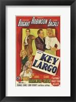 Framed Key Largo Bogart Robinson Bacall