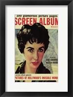 Framed Elizabeth Taylor