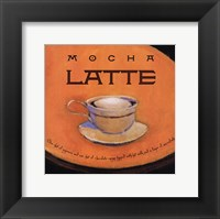 Framed Mocha Latte