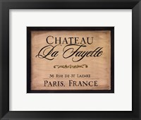 Framed Chateau La Fayette