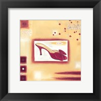 Framed Red Evening Shoe