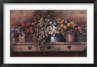 Framed Flowers on Shelf
