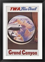 Framed TWA to the Grand Canyon