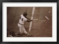 Framed Hammerin' Hank Aaron