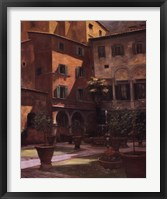Framed Siena Courtyard