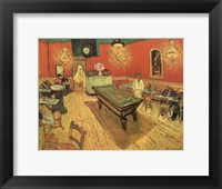 The Night Cafe in the Place Lamartine in Arles, c.1888 Framed Print