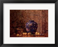 Framed Oriental Vase with Crab Apples