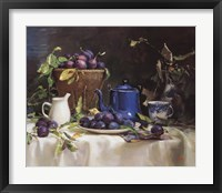 Framed Still Life with Plums