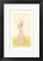 Bottle With Flowers lV Framed Print