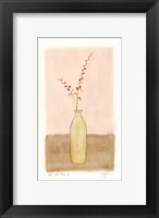 Bottle With Flowers ll Framed Print