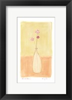 Framed Bottle With Flowers l