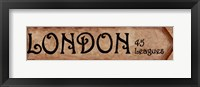 London - 45 Leagues Framed Print