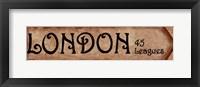 Framed London - 45 Leagues