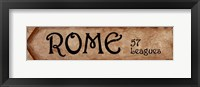 Rome - 57 Leagues Framed Print
