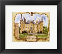 Framed Chateau Pichon