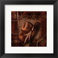 Western Cowboy Hat Framed Print