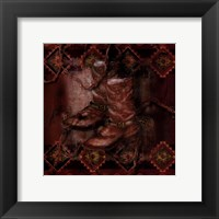 Western Boot Framed Print