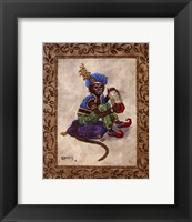 Monkey With Concertina Framed Print