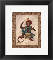 Framed Monkey With Drum