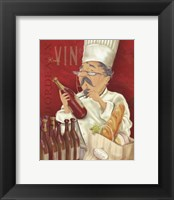 Framed Wine Chef I