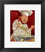 Framed Wine Chef II