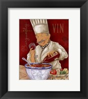 Framed Wine Chef IV