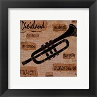 Dixieland Sound Framed Print