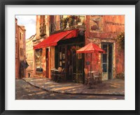 Hillside Cafe Framed Print
