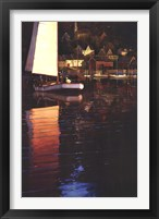 New England Sunset Sail Framed Print