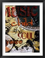 Give the Soul a Voice Framed Print
