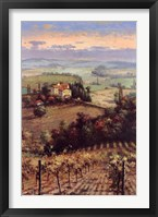 Framed Golden Vineyard II