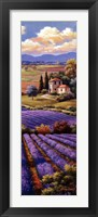 Framed Fields Of Lavender I