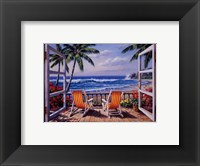 Framed Tropical Terrace for Two