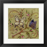 Framed Butterfly Green