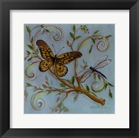 Framed Butterfly Turquoise
