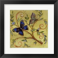 Framed Butterfly Yellow