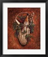Chardonnay Picnic Framed Print