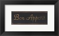Framed Bon Appetit Noir