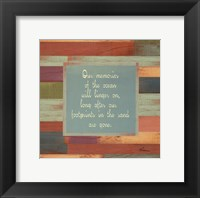 Beaches Quotes I Framed Print