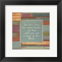Beaches Quotes III Framed Print