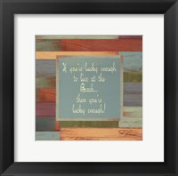 Beaches Quotes IV Framed Print