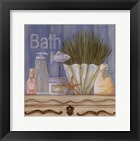 Country Blue Bath Framed Print