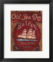 Old Sea Dog Saloon Framed Print
