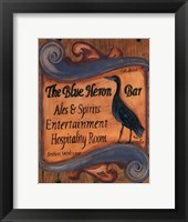 Framed Blue Heron Bar